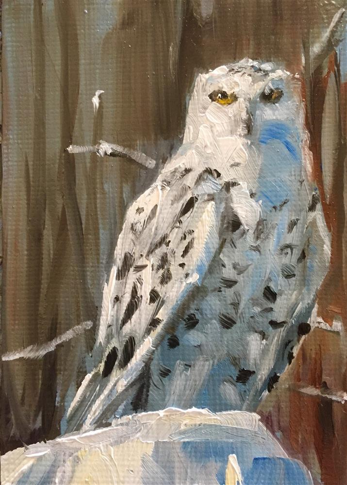 """Snowy Oil"" original fine art by Gary Bruton"