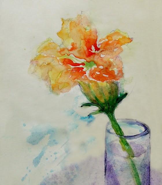 """24Aug015"" original fine art by Mitsuru Cope"