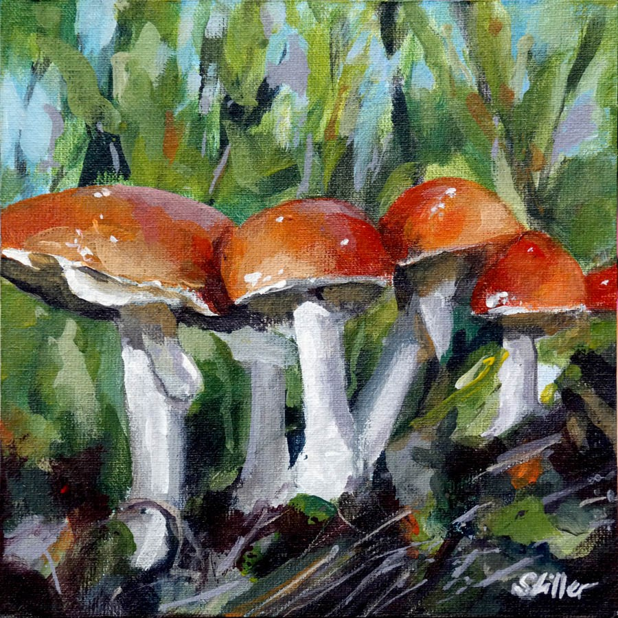 """2253 Mushroom Space"" original fine art by Dietmar Stiller"