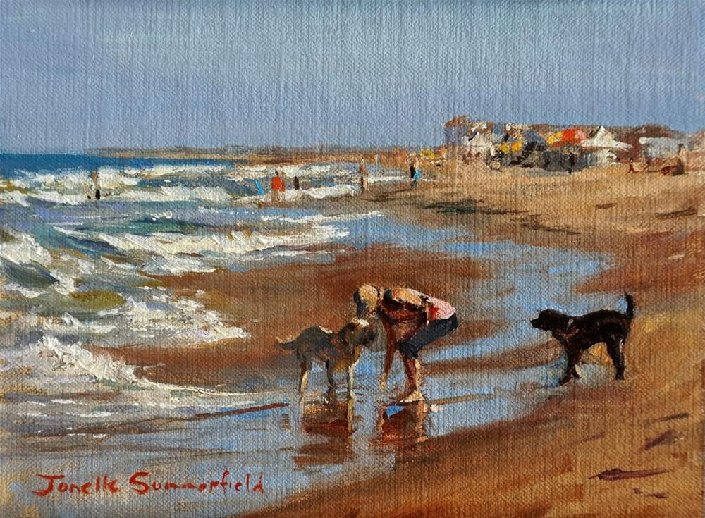 """Afternoon at Sandbridge II"" original fine art by Jonelle Summerfield"