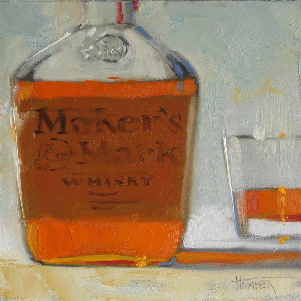 """ Maker's Mark No.12  6in x 6in oil"" original fine art by Claudia Hammer"