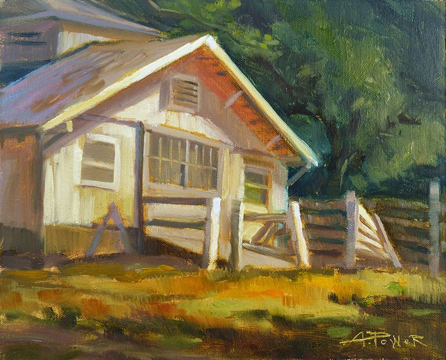 """""""Used to be Thurman's Place"""" original fine art by Anette Power"""