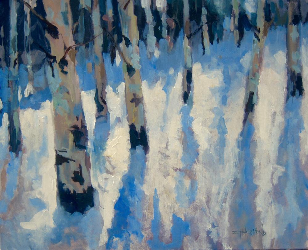 """Winter Impressions"" original fine art by Zack Thurmond"