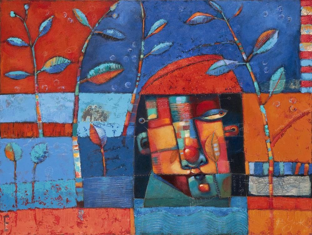 """Fork In The Road. No Map."" original fine art by Brenda York"