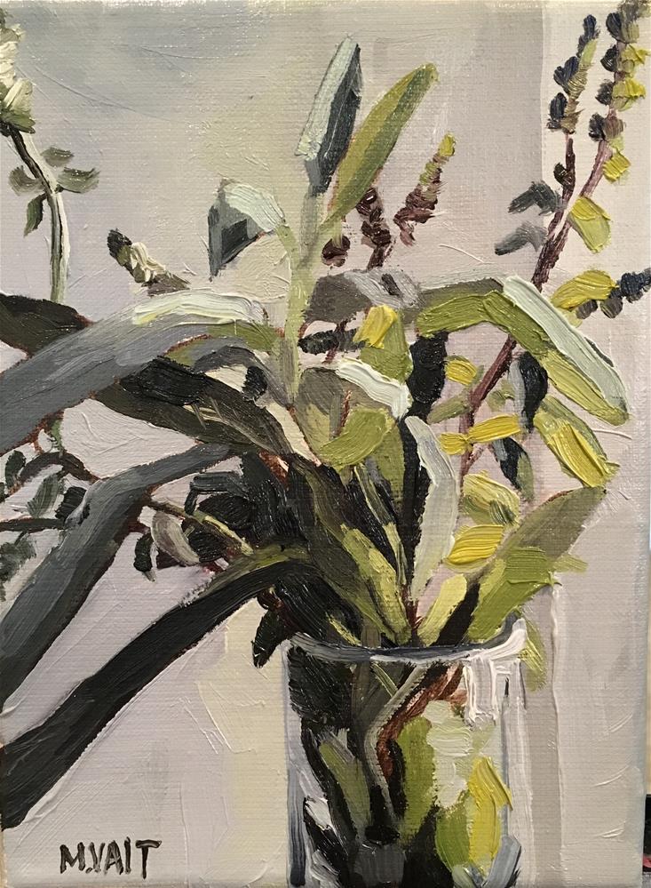 """Some green"" original fine art by Milda Vaitiekunaite"
