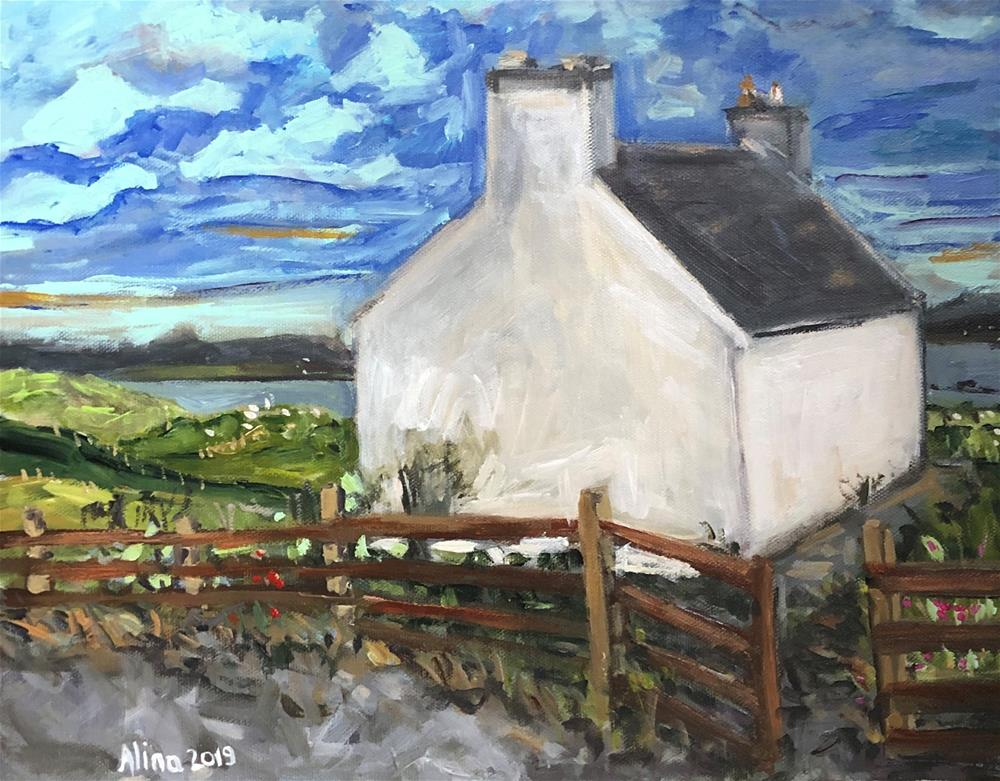 """Isle of Harris Cottage"" original fine art by Alina Vidulescu"