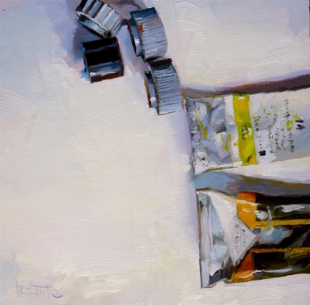 """Pair of yellows"" original fine art by Víctor Tristante"