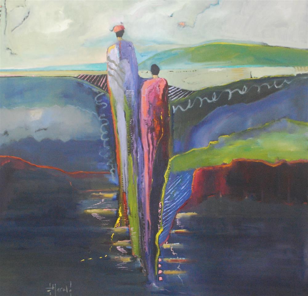 """Boardwalk"" original fine art by Deborah Harold"