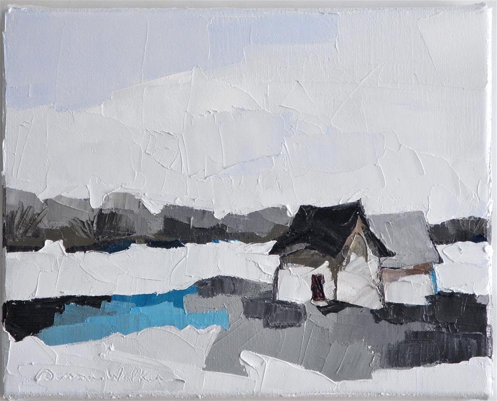 """""""Winter's Song"""" original fine art by Donna Walker"""