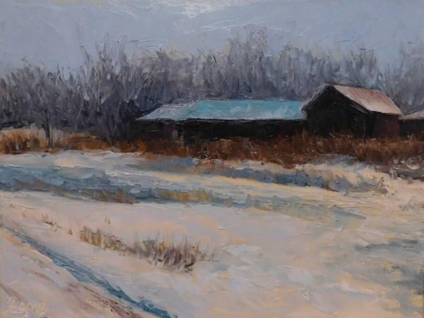 """""""Snowed In"""" original fine art by Lori L. Lamb"""