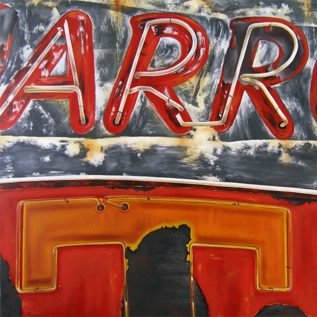 """Arrt - Vintage Neon Sign"" original fine art by Jelaine Faunce"