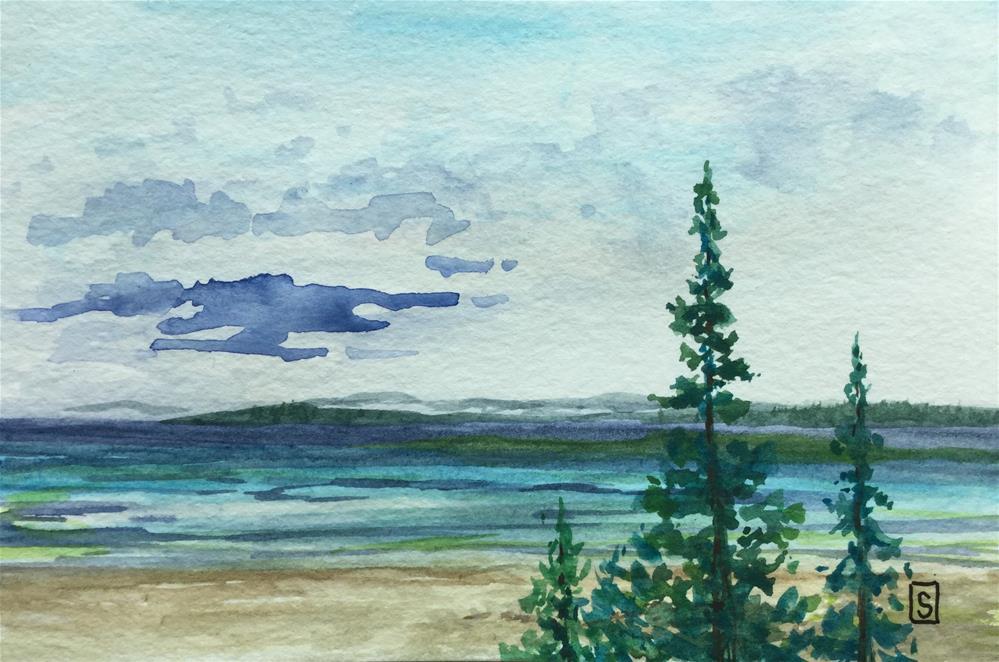 """""""6081 - Three Sentries"""" original fine art by Sea Dean"""