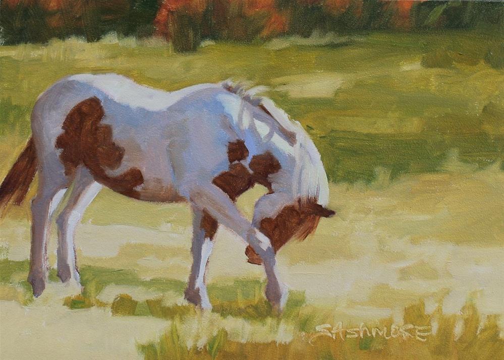 """""""Scratch that itch"""" original fine art by Susan Ashmore"""