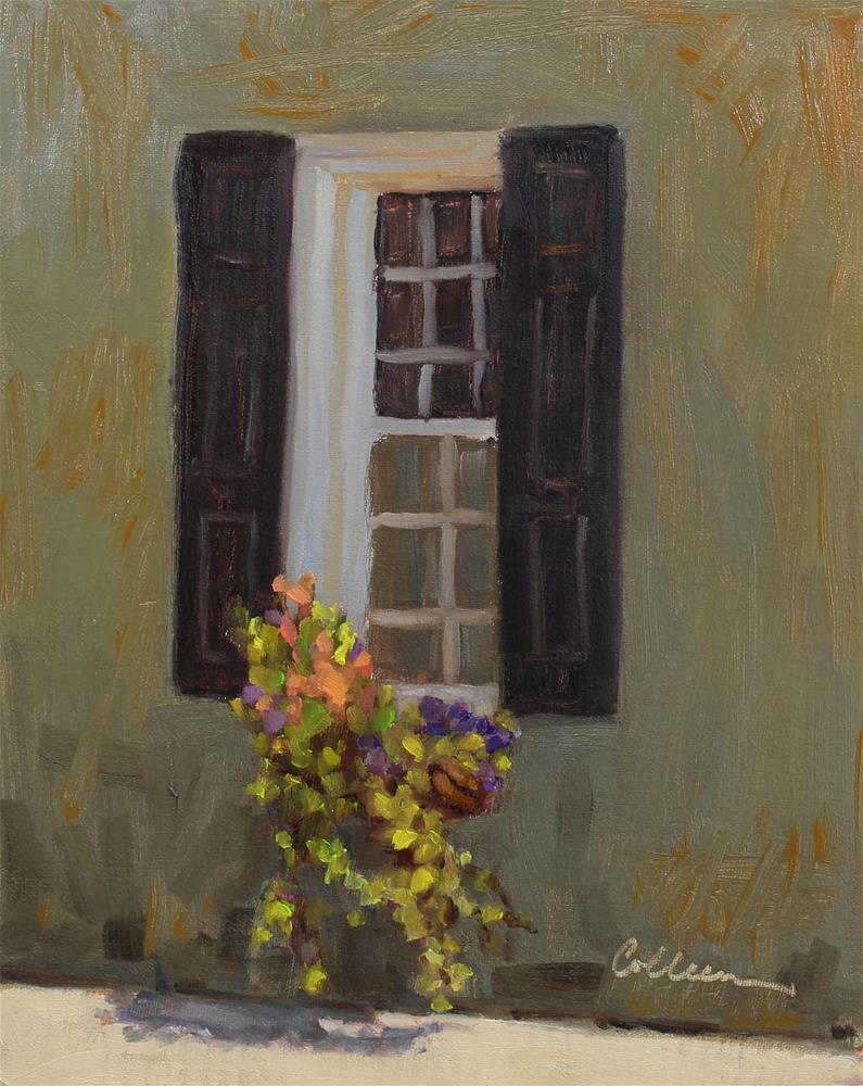 """""""Just Around the Corner"""" original fine art by Colleen Parker"""
