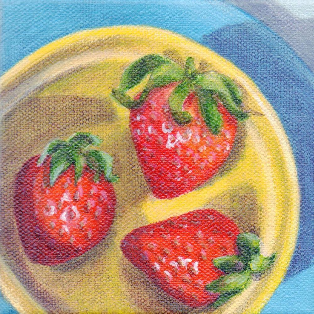 """""""Berry Bowl"""" original fine art by Debbie Shirley"""