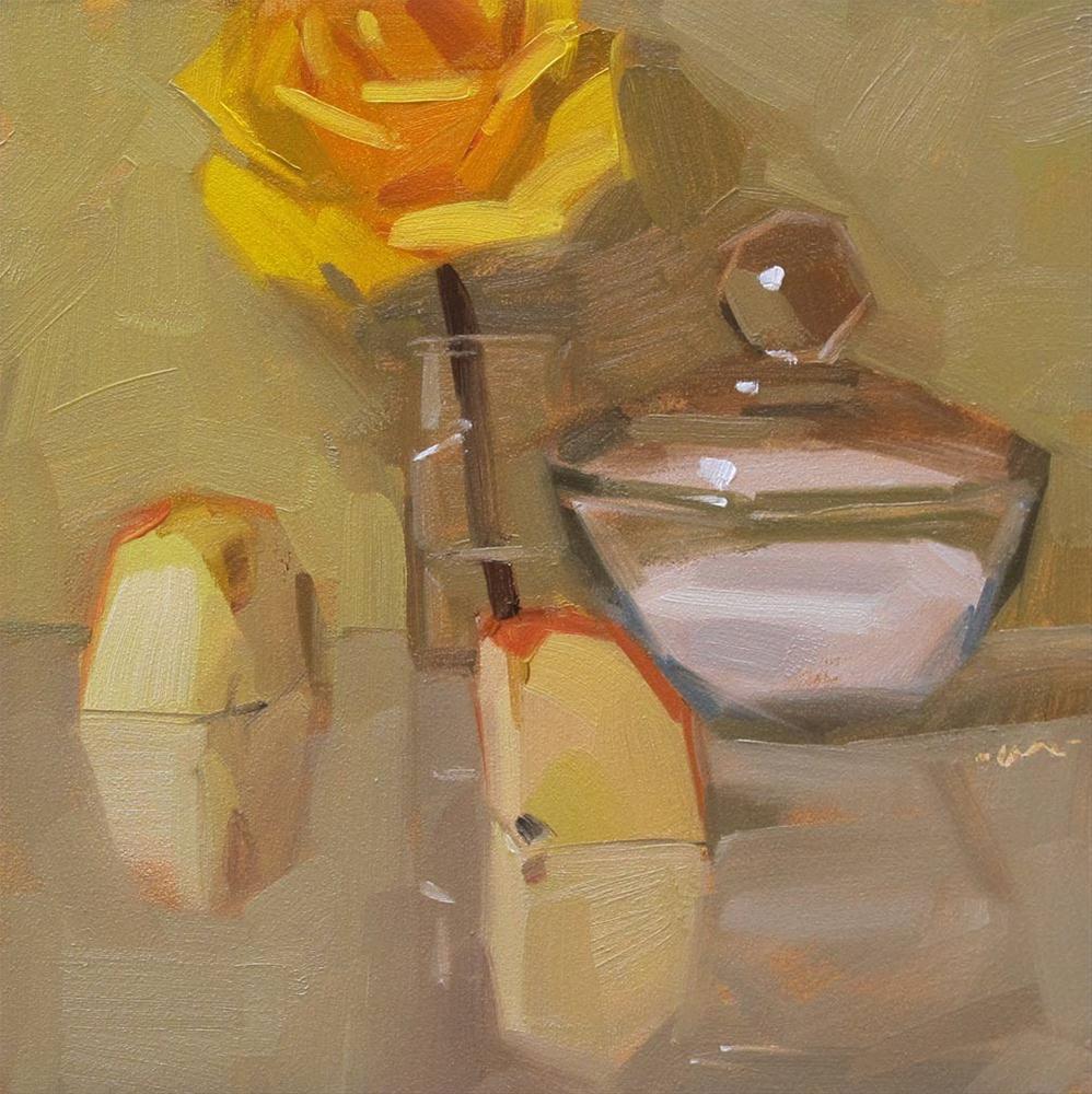 """Wading to the Waist"" original fine art by Carol Marine"