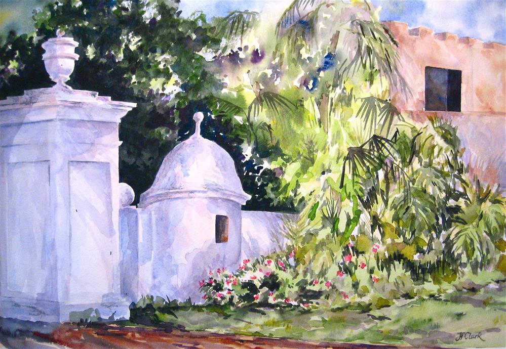 """""""Road to El Morro, San Juan, Puerto Rico"""" original fine art by Judith Freeman Clark"""