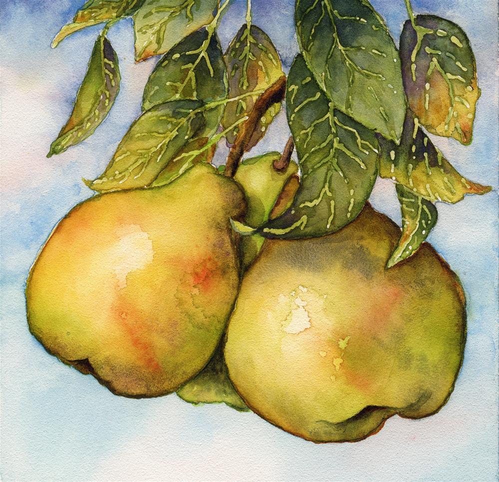 """Three Pears"" original fine art by Cynthia Armstrong"