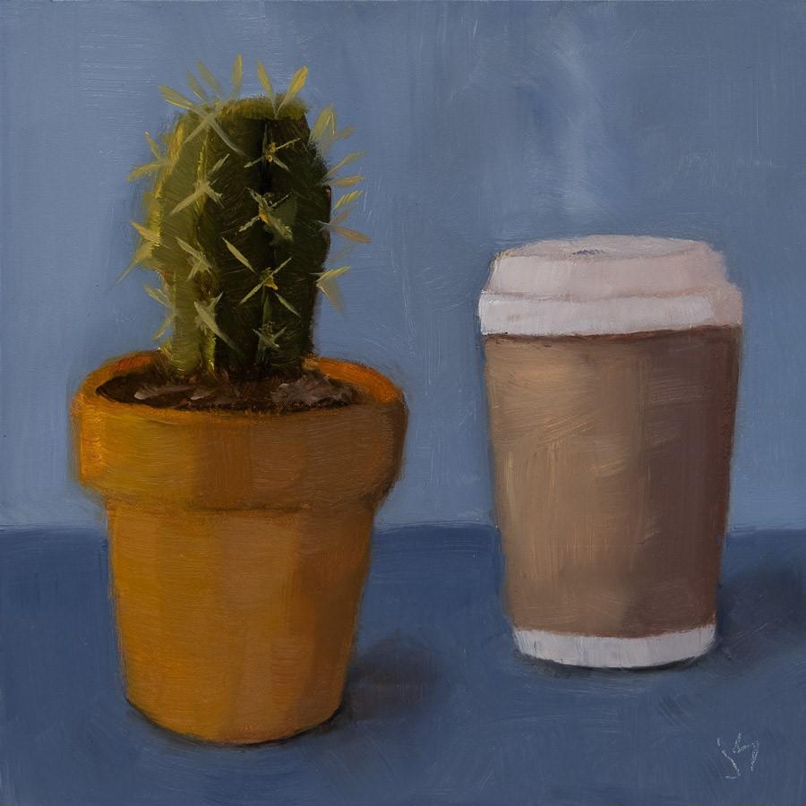 """""""Spiked Coffee"""" original fine art by Johnna Schelling"""