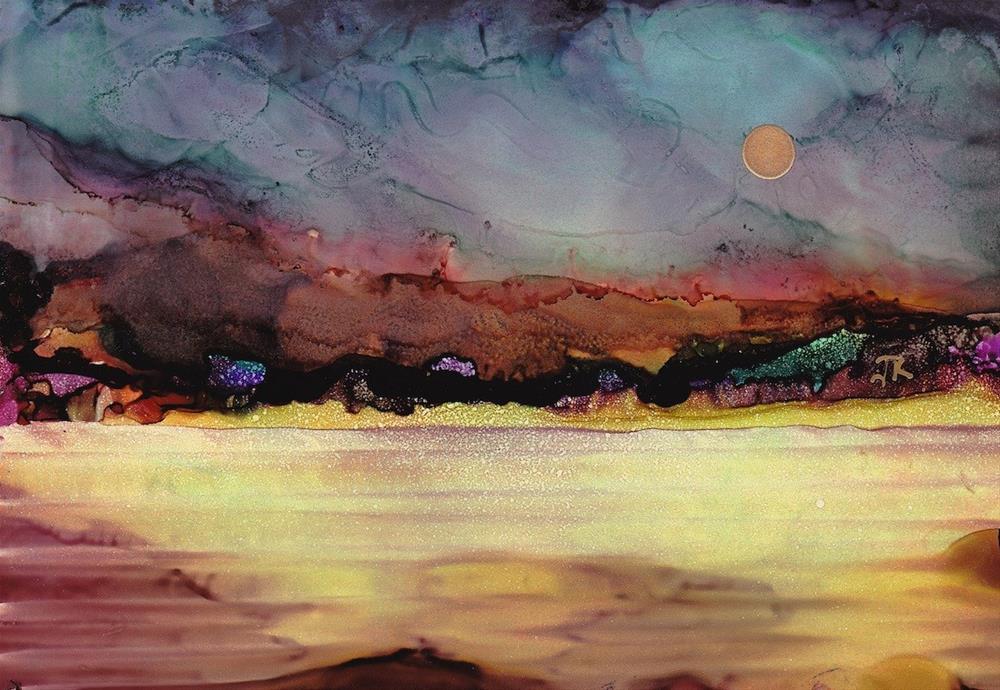 """Dreamscape No. 395"" original fine art by June Rollins"