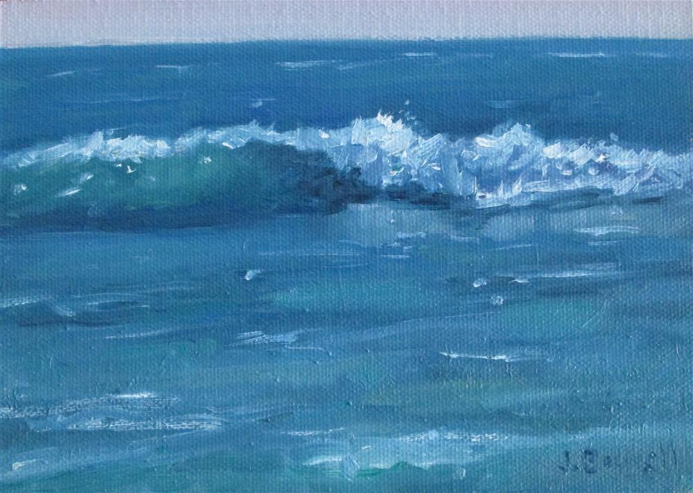 """Surf Series 10"" original fine art by Jennifer Boswell"