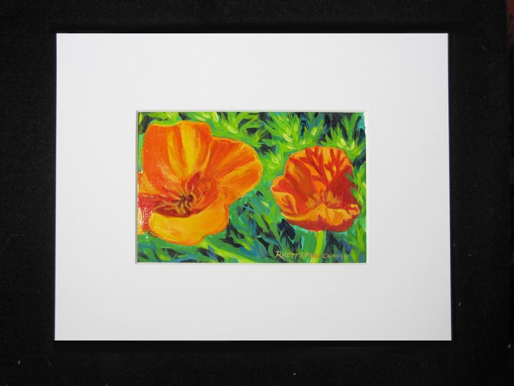 """Poppies"" original fine art by Rhett Regina Owings"