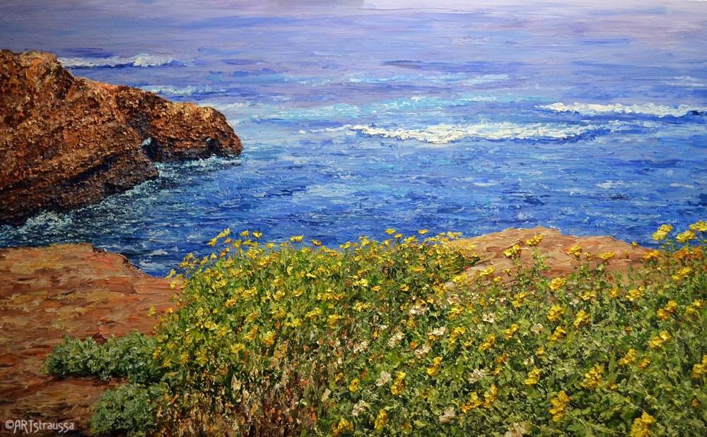 """Sunset Cliffs"" original fine art by Gloria Ester"