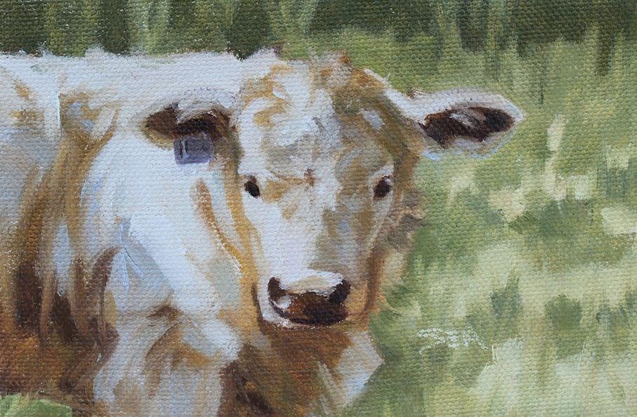 """Number 154"" original fine art by Susan Ashmore"