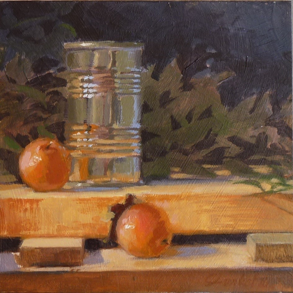 """Can & Wild Persimmons"" original fine art by Ron Ferkol"
