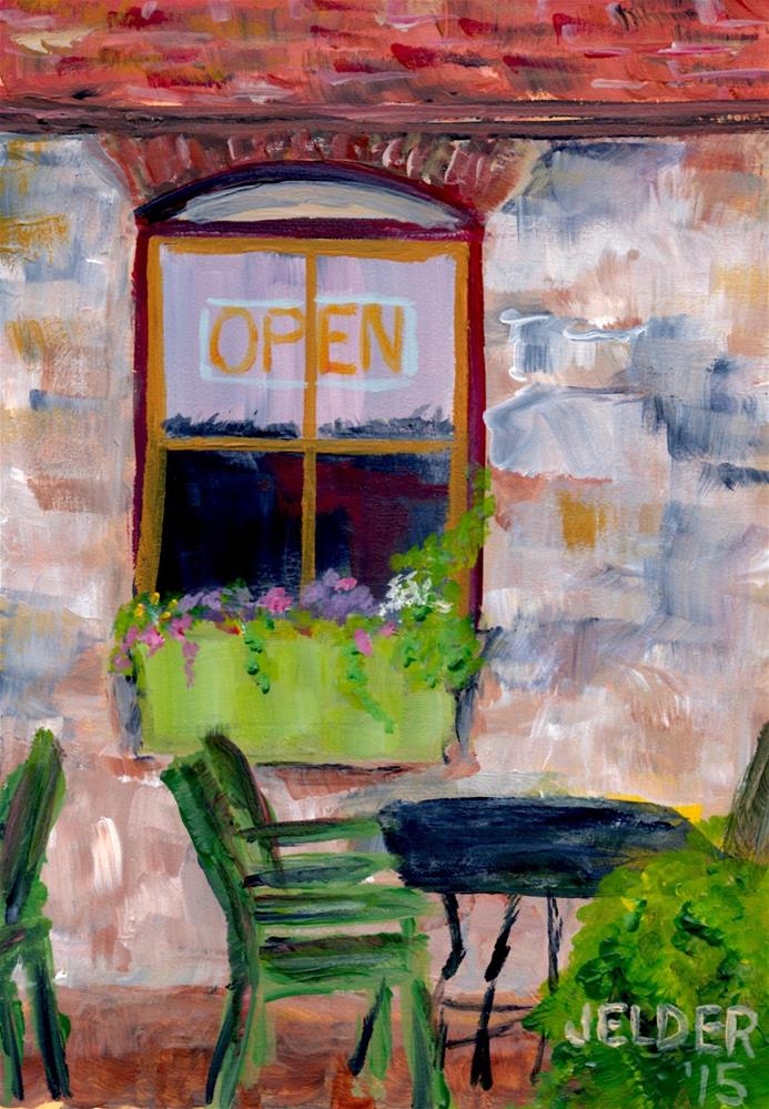 """Open, B'ham No. 15"" original fine art by Judith Elder"