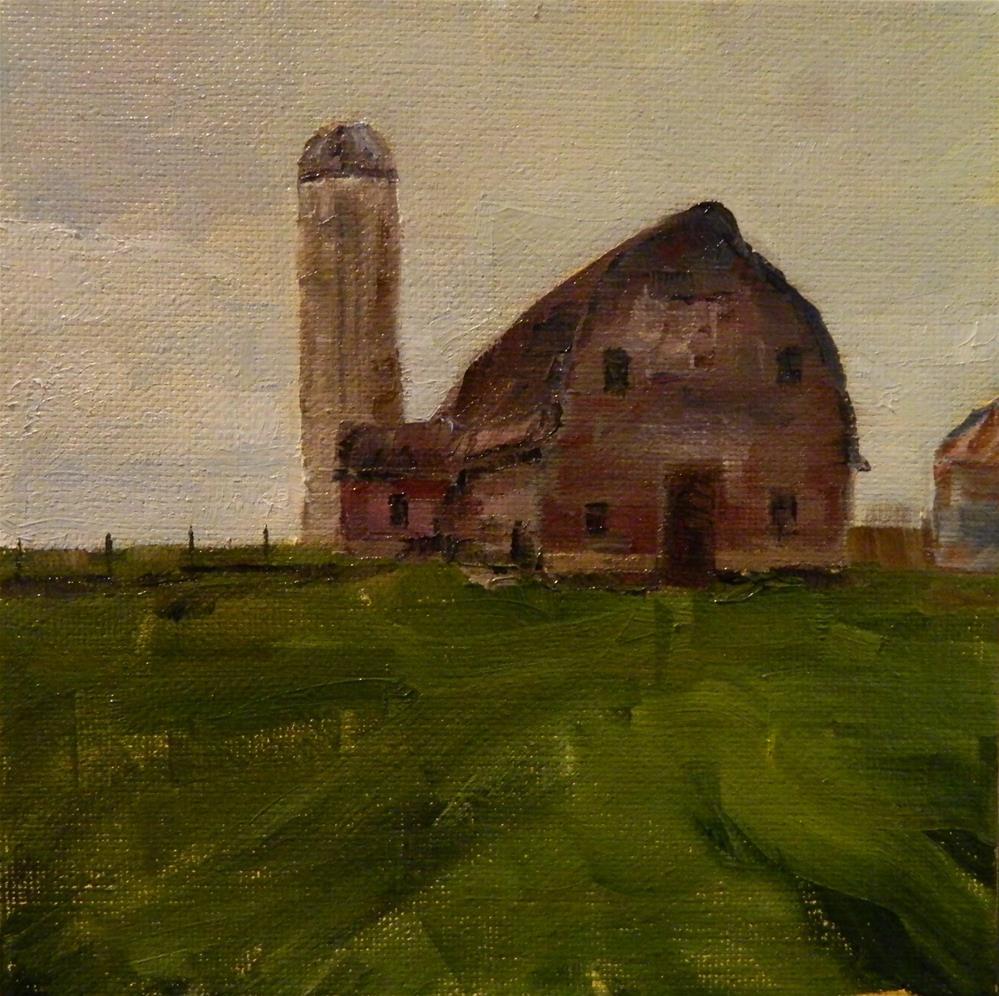 """""""Red Barn"""" original fine art by Debra Shore"""