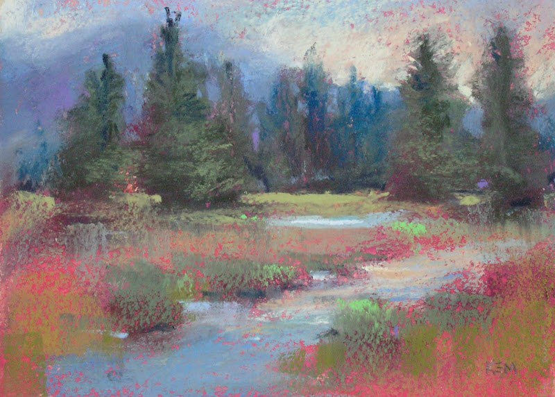 """Mountain Peace"" original fine art by Karen Margulis"