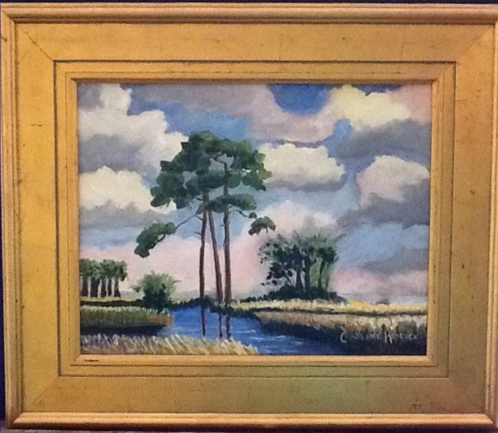 """MEANDERING MARSH"" original fine art by Charlotte Bankhead Hedrick"