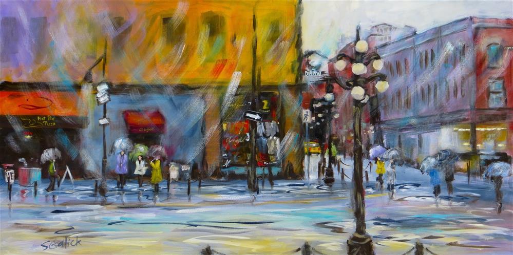 """Gastown - Water & Powel Street"" original fine art by Susan Galick"