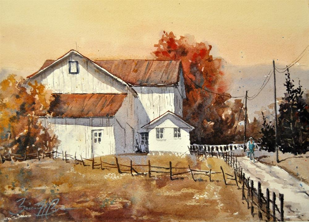 """Autumn Morning"" original fine art by Brienne M Brown"
