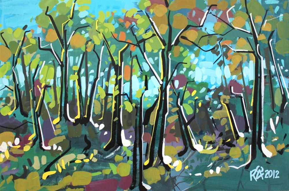 """""""In the forest 3"""" original fine art by Roger Akesson"""