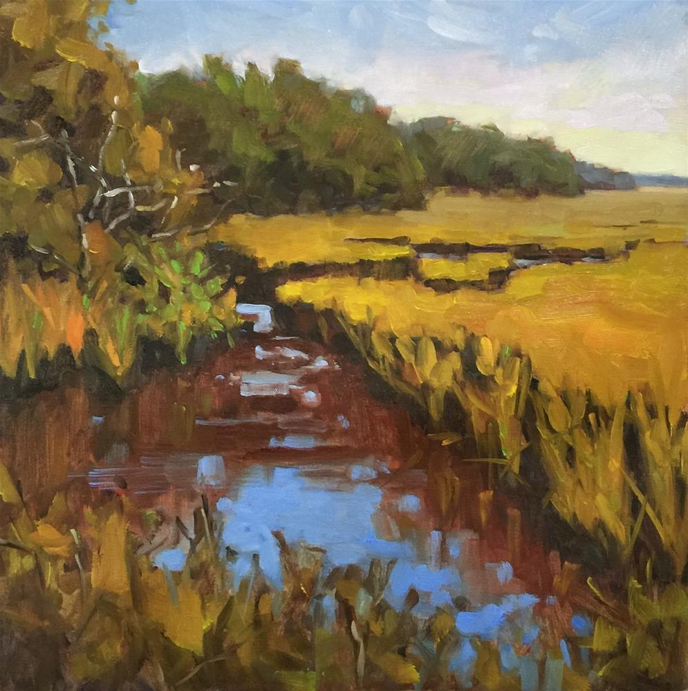 """Local Marsh"" original fine art by Colleen Parker"