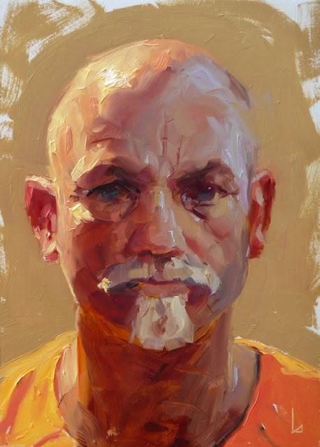 """Orange Juice"" original fine art by John Larriva"