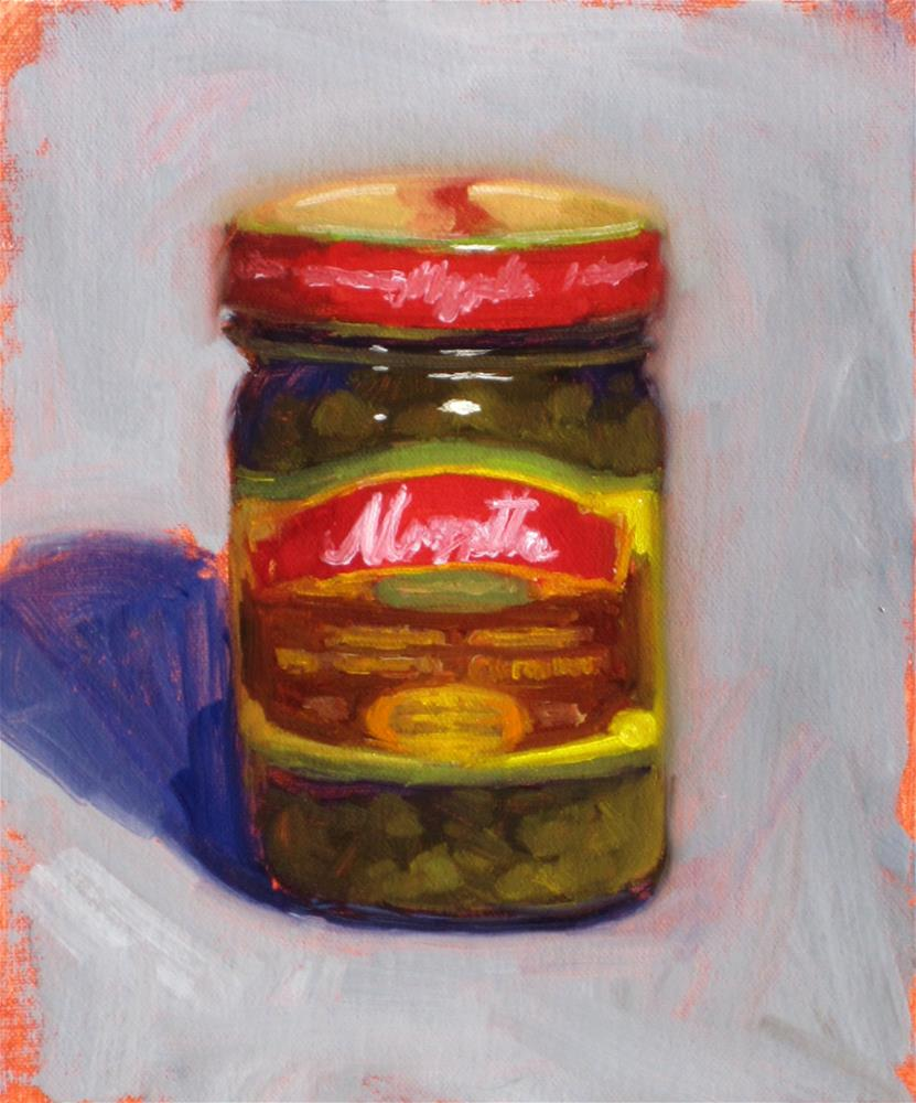 """jar of capers"" original fine art by Dan Graziano"