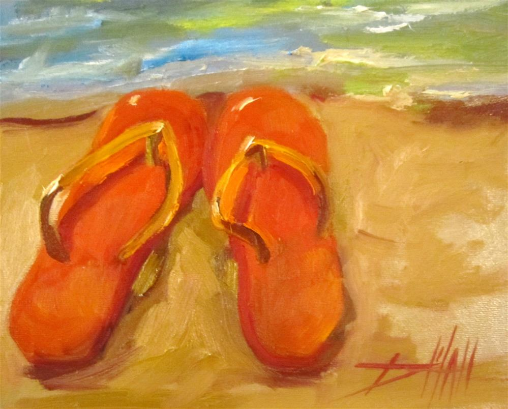 """Flip Flops"" original fine art by Delilah Smith"