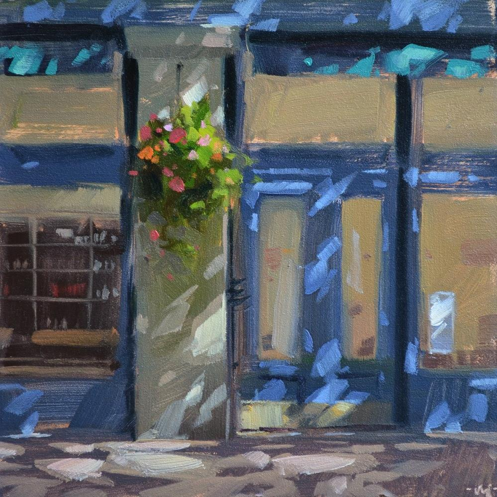 """Dappled Wine Bar"" original fine art by Carol Marine"