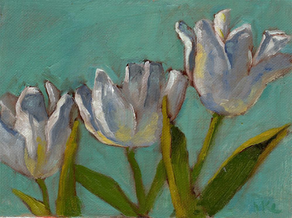 """White Petals Spreading"" original fine art by Marlene Lee"