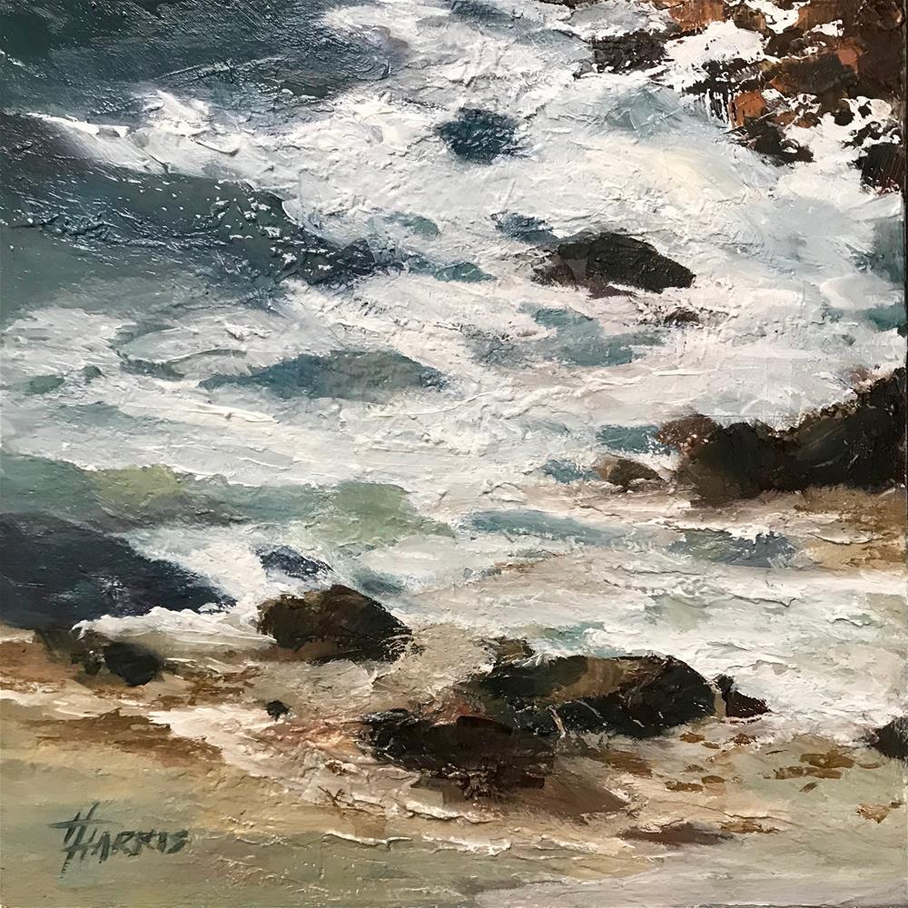 """Coming Ashore"" original fine art by Helen Harris"
