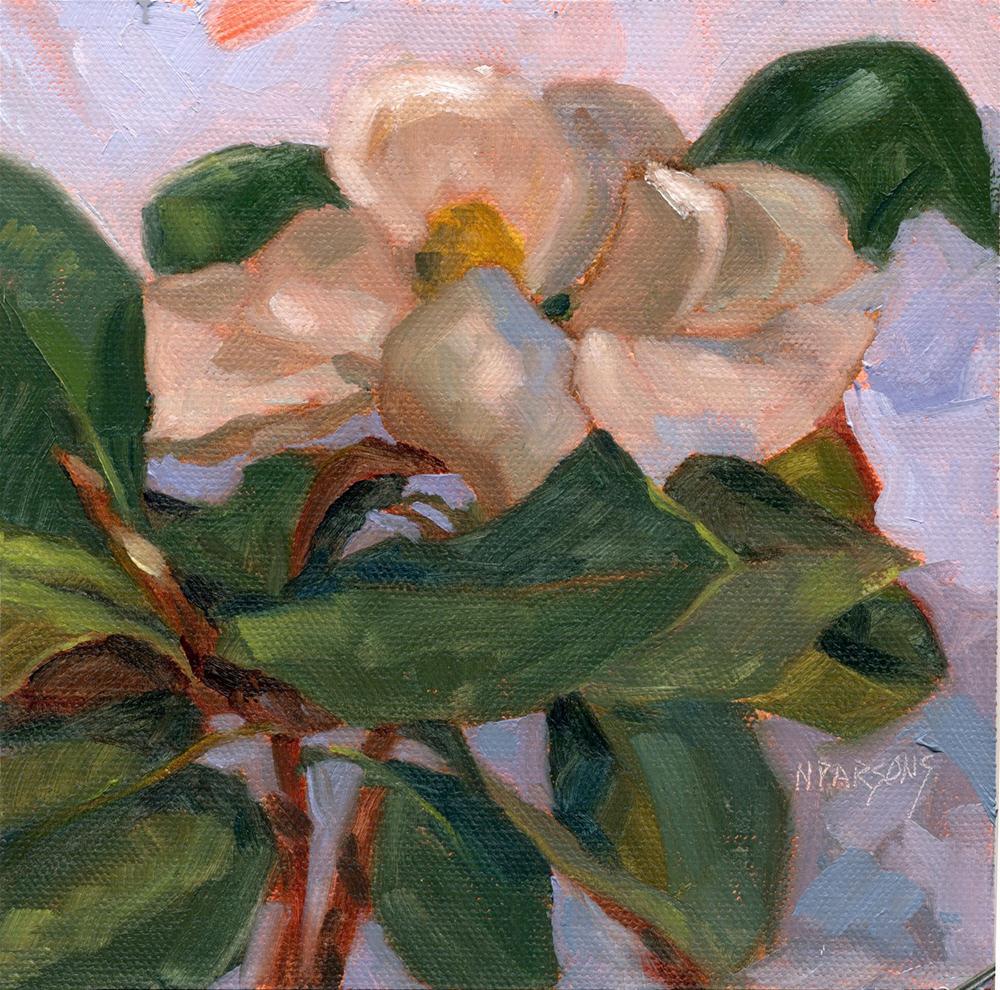 """""""Magnolia Minuet"""" original fine art by Nancy Parsons"""