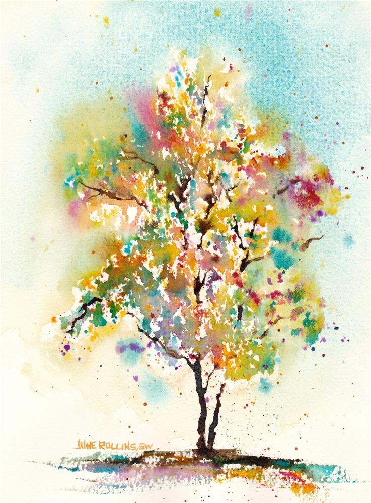 """Embracing Change"" original fine art by June Rollins"