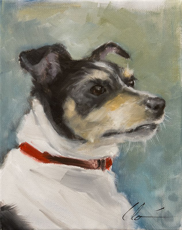 """Tucker"" original fine art by Clair Hartmann"