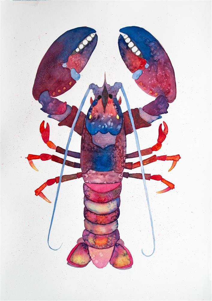"""Funky Lobster"" original fine art by Clair Hartmann"