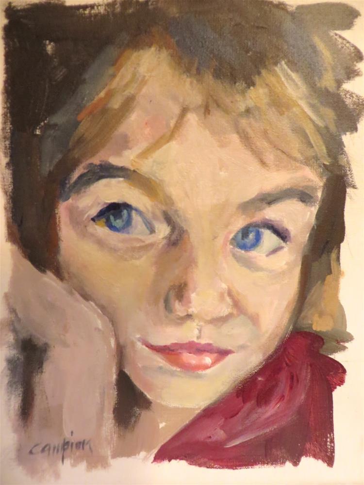 """730 Contemplating"" original fine art by Diane Campion"