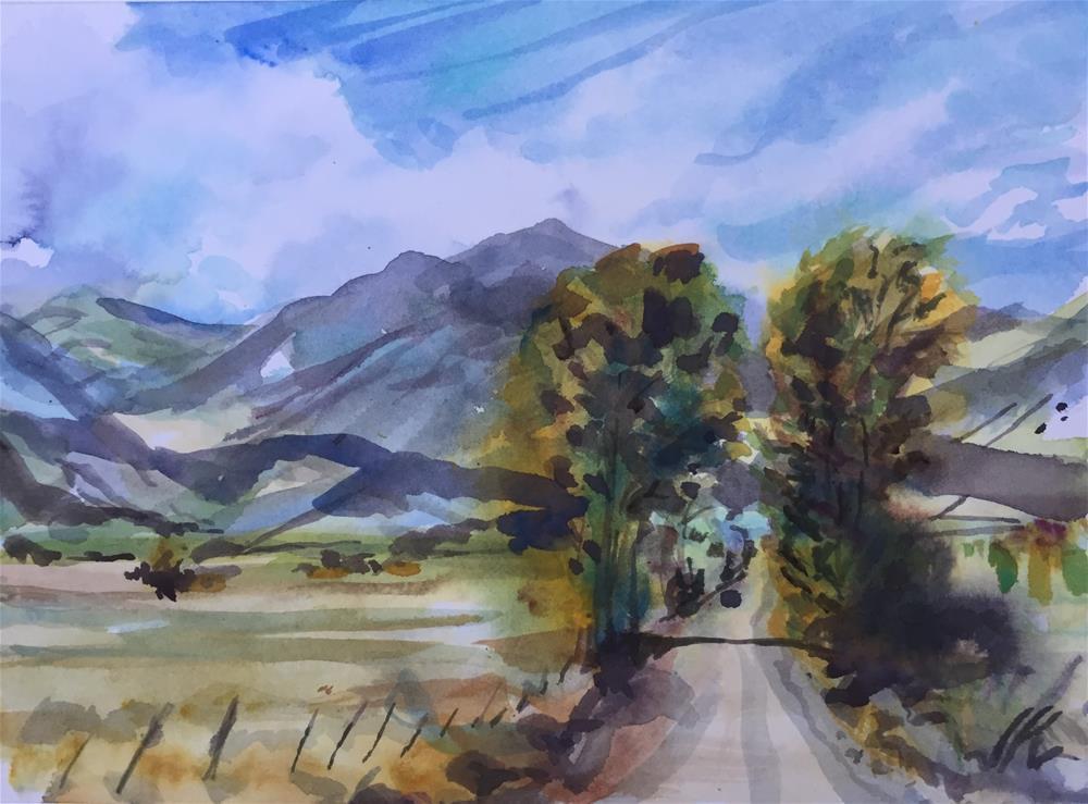 """""""County Road 130, Westcliffe, CO"""" original fine art by Jean Krueger"""