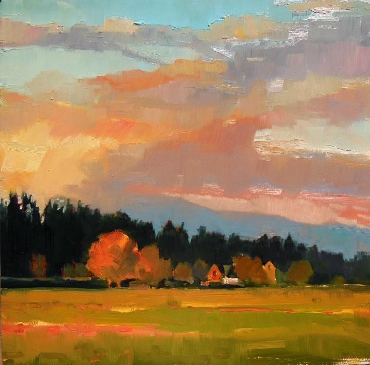 """Skagit Valley Jewel  Skagit Valley, plein air ,landscape painting by Robin Weiss"" original fine art by Robin Weiss"